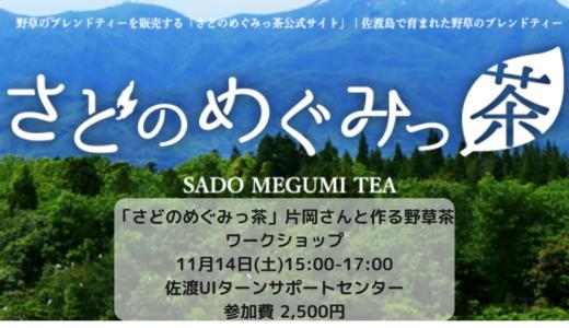 さどのめぐみっ茶・片岡悦子さんと作る野草茶ワークショップのお知らせ